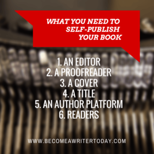 What you Need to Self-Publish