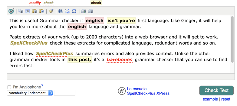 SpellCheckPlus -grammar checker review