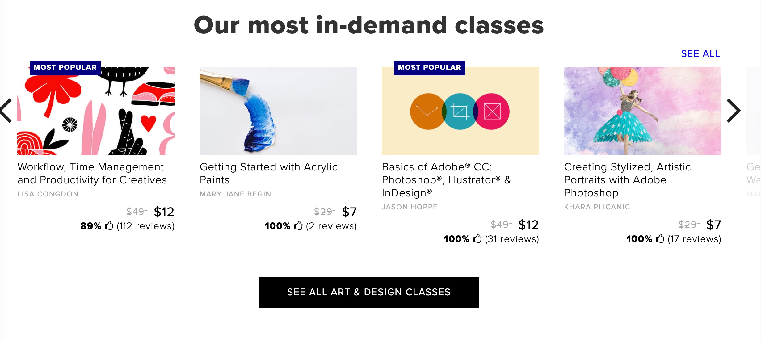 CreativeLive course pricing