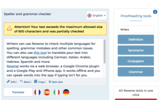 Reverso -grammar checker review