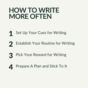 How to write more often
