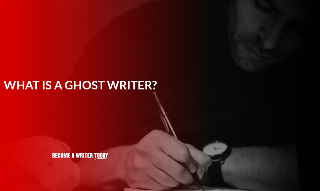 What is a ghost writer?